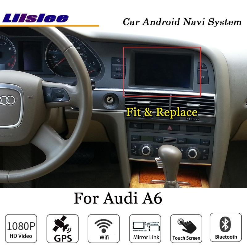 Liislee 10.25 Inch Car Android Multimedia For Audi A6 Blu-ray Anti-Glare Stereo Carplay GPS Navi Map Navigation Original System-7