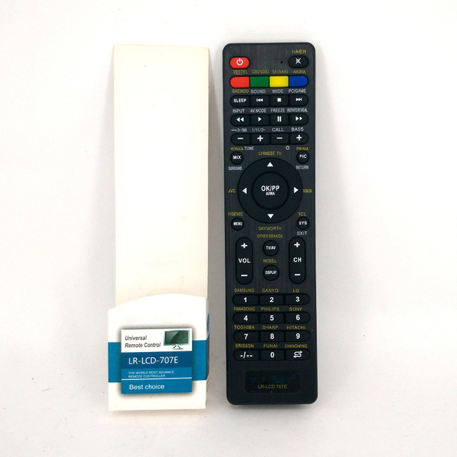 US $5 99 9% OFF|Universal Remote Control LR LCD 707E For HAIER VESTEL  GRYNDIG DAEWOO HISENSE LCD TV TXT Function Remoto For Most Models-in Remote