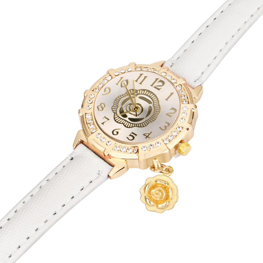 New watches women Quartz ladies watch Roses Tower Rhinestone Pendant women wrist watches bayan saat reloj mujer#3 1