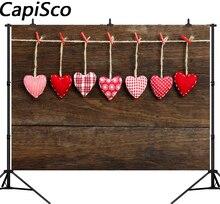 Capisco деревянная доска любовь сердце день Святого Валентина фотографии задний план индивидуальные фотографический фон для фотостудии