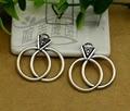 40 pcs - 25 x 25 mm, Anéis de casamento de prata antigo encantos, Suprimentos diy, Jóias acessórios