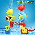 Brinquedos banho de chuveiro torneira de água espirrando água em volta das crianças música brinquedo do banho torneira flor