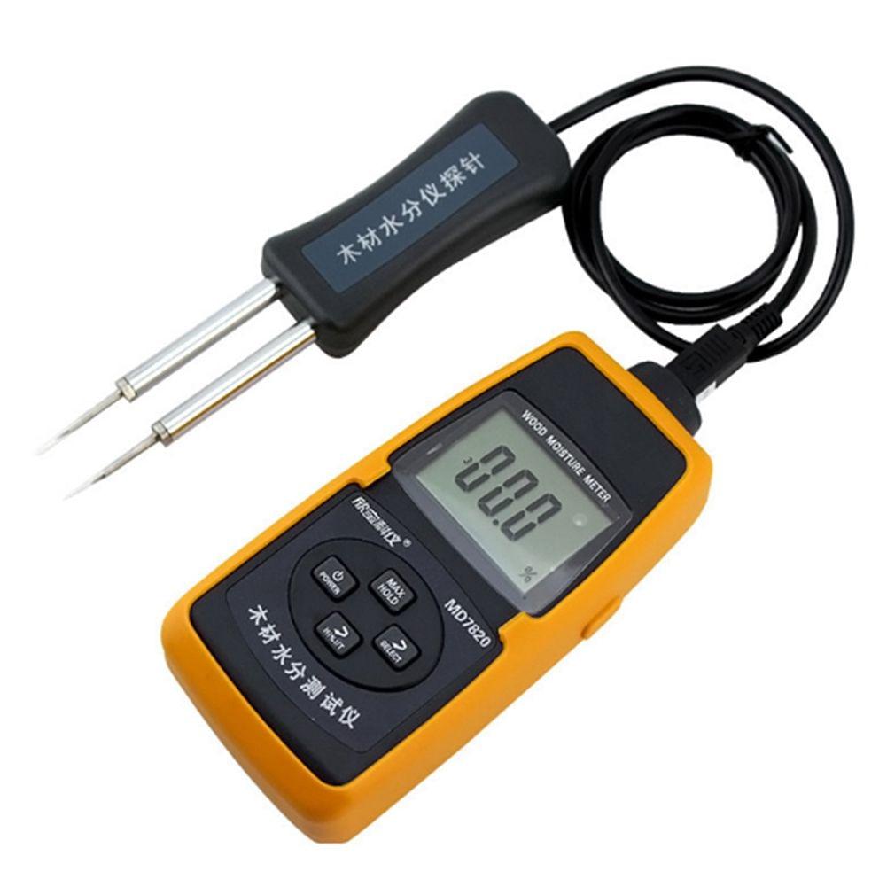 xinbaokeyi MD7820 Digital Meter Wood Moisture Meter Tester Temperature Humidity digital pin type moisture meter mc 7825p 0 80% wood fiber materials moisture tester