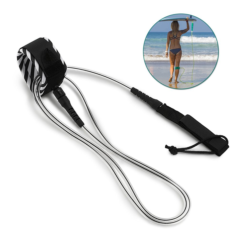 Ankle Cuff Foot Leg Rope Longboard Safety Leash 7mm Tpu Cord Sup Double Swivels Surfing & Diving Water Sports Clever Ananas Surf Surfboard Leash 10 Ft