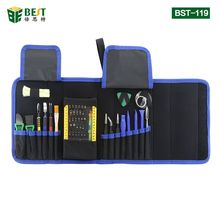 BST-119 набор магнитных прецизионных отверток для ремонта ноутбуков набор инструментов для мобильных телефонов с пинцетом Spudger Prying инструмент