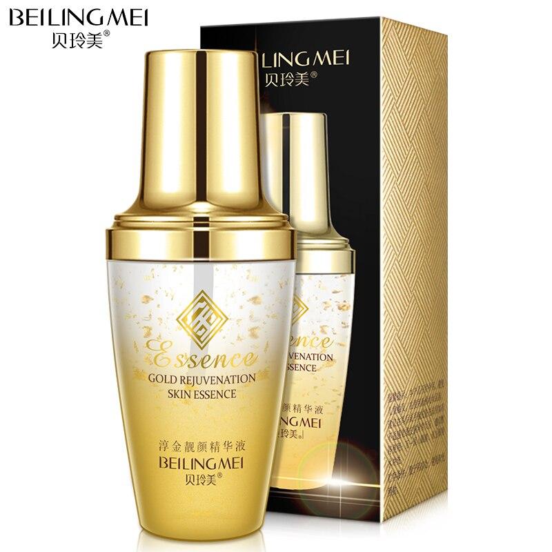 BISUTANG 24 k oro blanqueamiento ácido hialurónico esencia Anti-arrugas Anti-envejecimiento cara crema hidratante de la piel