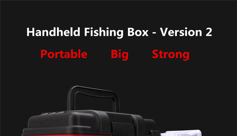 New 4 Layers Fishing Tackle Box Strong ABS Plastic Fishing Tools Container Big Fishing Accessories Box 27x17x26cm 4 Colors (11)