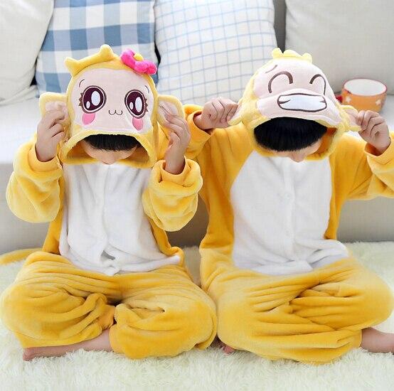 High Quality Wholesale Monkey Winter Flannel Hoodie Pajamas Costume Cosplay Animal Onesies Sleepwear For Boys Girls Kids