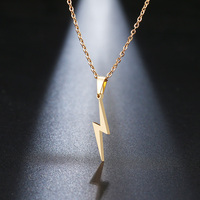 Stainless Steel Necklace Hot Lightning Necklaces For Women Protection Pendants For Girlfriend Gifts Vintage Jewelry Fashion Jewelry