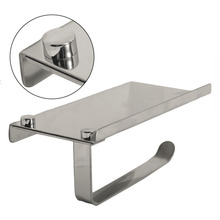 Silver/Golden Stainless Steel Cell Phone Holder Towel Roll Paper Tissue Rack Hardware Accessory Great Bathroom Tool Hot Sale