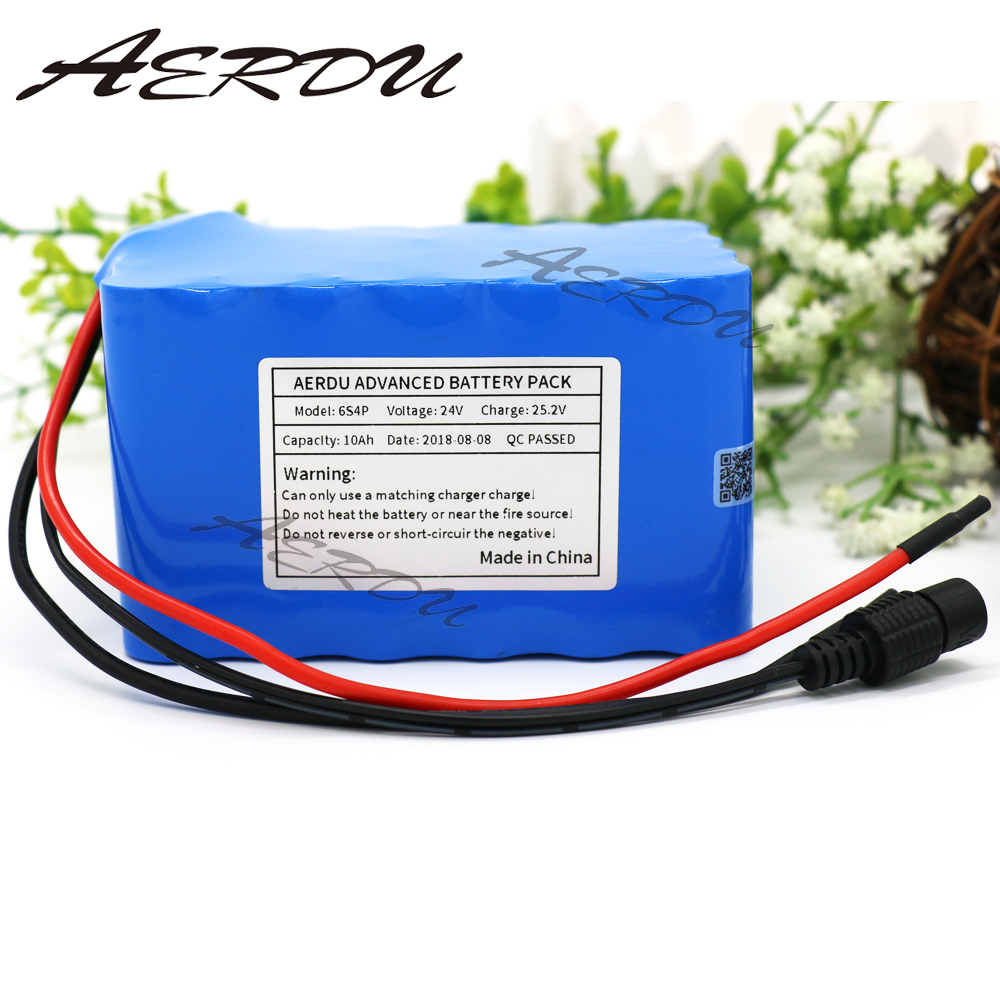 AERDU 6S4P 24V 10Ah 25.2V Li-Ion battery pack lithium batteries for electric motor bicycle ebike scooter high power with BMS 7s3p 24v 10 5ah 29 4v ncr18650ga li ion battery pack lithium batteries for small electric motor bicycle ebike scooter with bms