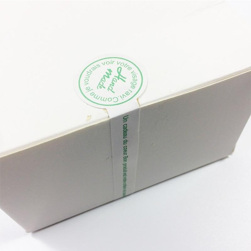Купить с кэшбэком 120 Pcs/lot 'Hand made' Sealing Tag DIY Decorative Stickers For Handmade Products Diy Bakery Packsge Label Adhesive Seal Sticker