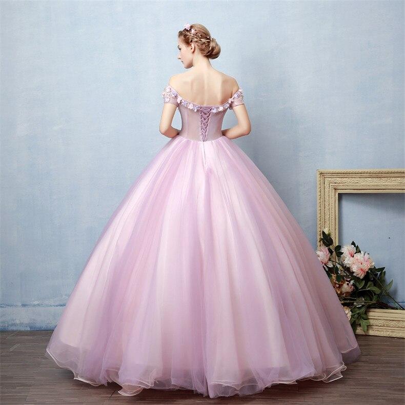 c8ff6d53a9dfa US $96.2 |Walk Beside You Lilac Pink Quinceanera Dresses Off Shoulder  vestidos de 15 anos debutante Ball Gown Flowers quince anos 2019-in  Quinceanera ...