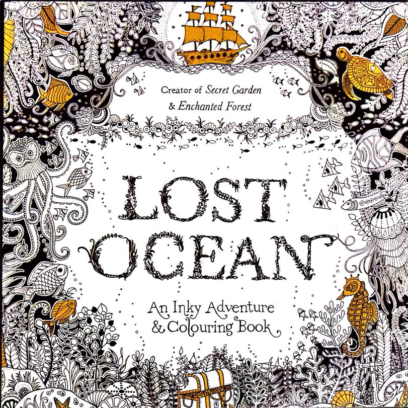 96 pages Lost Ocean coloring books for children & adults painting ...