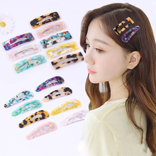 Trendy Shiny Tin Foil Sequins hair clip WaterDrops Geometric Hairpin Acrylic Hairgrips Barrettes Women Girls  Hair Accessories