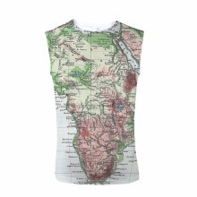 FORUDESIGNS Tank Top 3D Map Design Print  Men Sleeveless Tee Bodybuilding Stringer Male Cowboy Streetwear Crew Neck personality 3d round neck gorilla print tank top for men