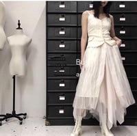 2019 New Silk Sling Stitching Stripe Dress Women