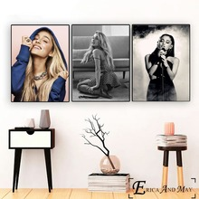 Ariana Grande 2018 Sexy Singer Cotton Canvas Art Painting Posters And Prints Wall Pictures For Living Room Home Decor No Frame