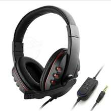 Stereo Headphone Headset 3.5mm Plug Computer Gaming Headset PS4 with Mic LED Light for PC Game Gamer Earphone N new 3 5mm game gaming headphone headset earphone with mic subwoofer stereo headphone for laptop tablet ps4 mobile phones