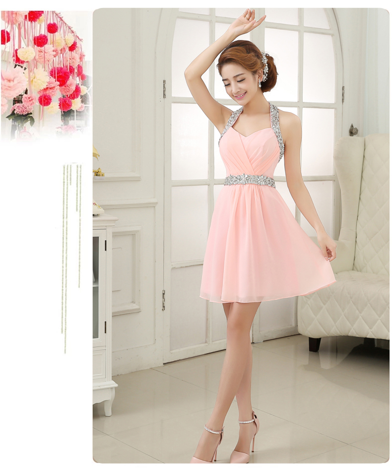 Aliexpress.com : Buy Light Pink Beaded Cocktail Party Dress ...