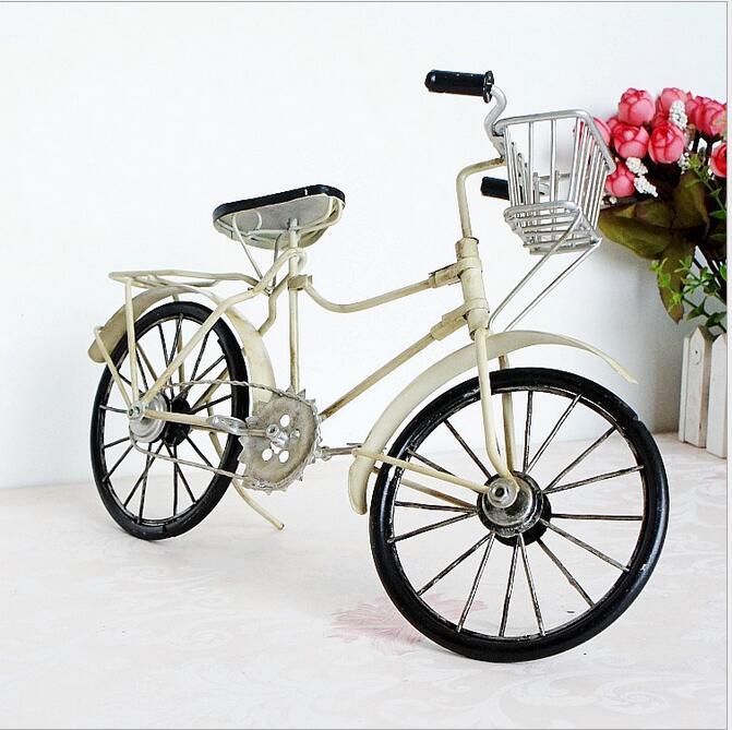 Store Vintage Metal Cykel Ornamenter Desktop Håndværk Cykel Figurer - Indretning af hjemmet - Foto 2