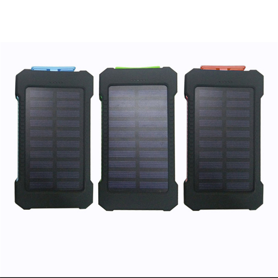 2018 Charger 10000mAh LED Dual USB Ports Solar Panel Power Bank Case Charger DIY Kits Box for Samsung S8 Xiaomi USB External