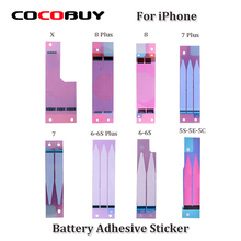 10pcs Novecel Original Battery Adhesive Sticker For iPhone X 5s 5c 6 6s 7 8 plus Glue Tape Strip Tab Replacement Part