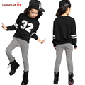Teenage Girl Clothing Set Autumn 2016 Kids Hip Hop Girls Clothes Survetement Football Sports Suit Long Sleeve Top & Pants Set