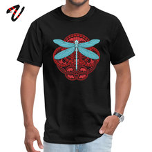 Print Top T-shirts Fashion Round Neck Dragonfly Fire Ukraine Men Tops T Shirt Umbrella Corporation Short Sleeve Tee Shirts blue round neck random print t shirts
