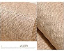 beibehang papel de parede Pure color simple linen pattern imitation PVC waterproof wallpaper hudas beauty behang