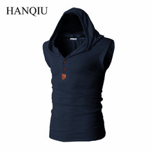 2017 New Brand Stretchy Sleeveless Shirt Casual Fashion Hooded Tank Top Men bodybuilding  Slim Fit Clothing Tanks
