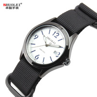 Men Watches 2014 Stainless Steel Case Leather Strap Quartz Military Watches Men Outdoor Sports Army Style