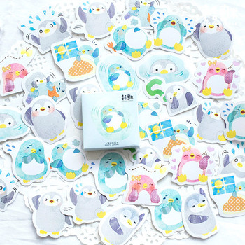 1PCS Sell Blue Penguin Stationery Stickers Diary Pack Posted It Kawaii Planner Scrapbooking Stationery Escolar School Supplies Stationery Stickers
