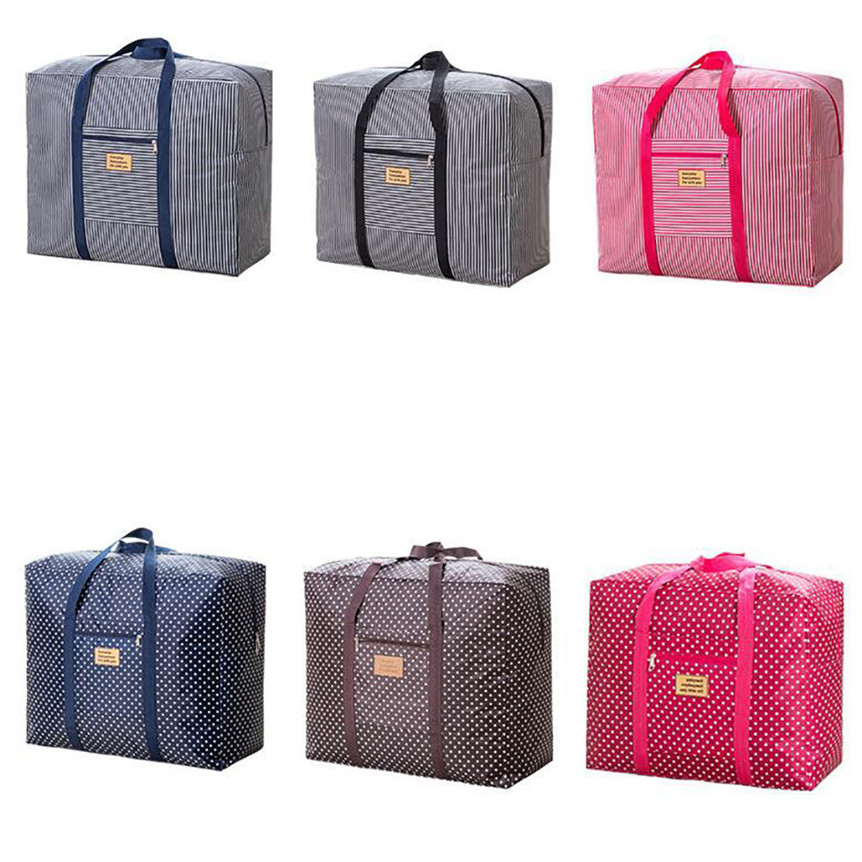 Storage Bag Large Vintage Laundry Shopping Storage Tote Bag Reusable Bags Zipped Drop Shipping 9#