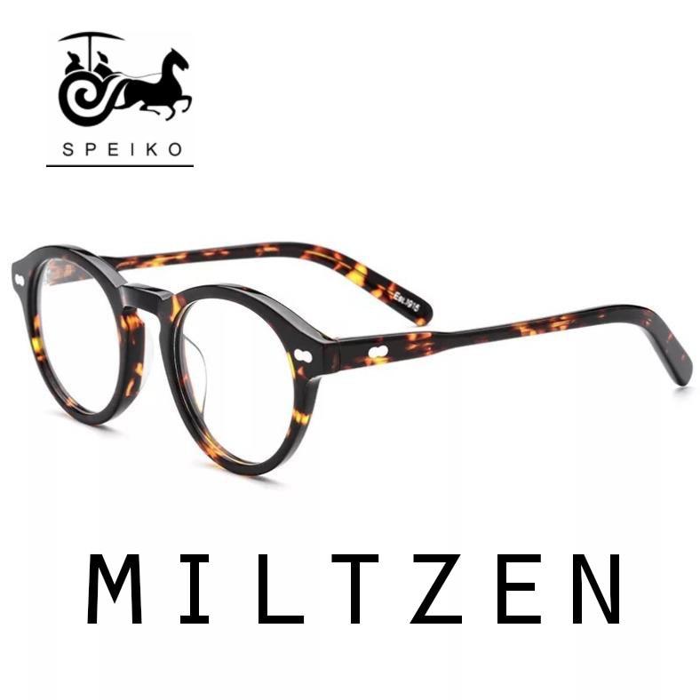 1915 Glasses MILTZEN Style Sunglasses 46mm Round Frames Jhonny Depp Eyewear Can Be Myopia Reading Glasses Sunglasses 1.74 Lens