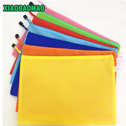 A4 File Bag 34X24CM File Folder / Documents File Bag / Stationery Filling BAG School Office Storage File Pouch Holder Zipper Bag