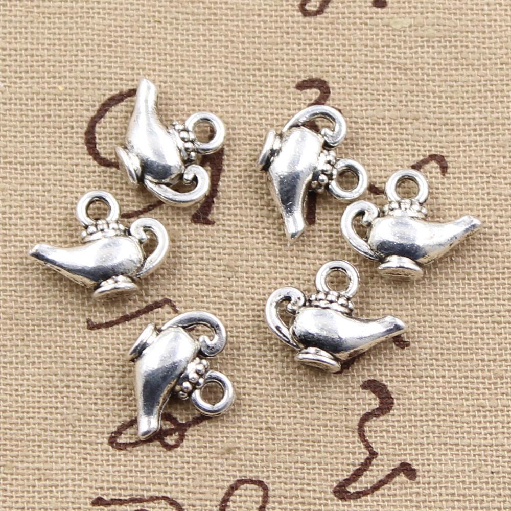 Aladdin Genies Make a Wish Lamp Charm Dangle for snake Chain charm Bracelet