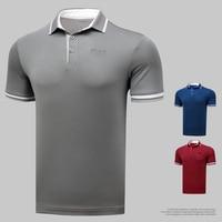 Genuine Golf Men's Tshirt Short Sleeve T Shirt Summer Breathable Polo Sport Shirt Quick Drying Golf Clothes