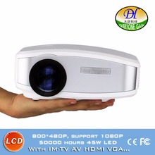 DH-mini291 Red-blu 3D LCD Home Theater Projector Build in Speaker Manual Focus Proyector Support 1080p IM-TV AV HDMI VGA beamer