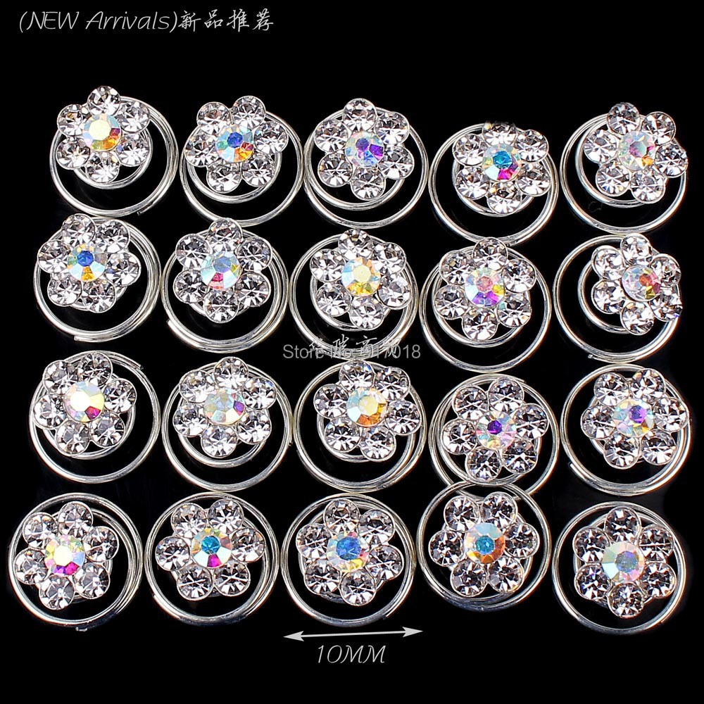 Buy rhinestone hair pins weddings and get free shipping on AliExpress.com 9b6e411ae661
