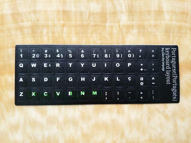50 pcs clavier autocollants portugais br alphabet portugal langue