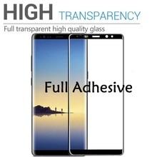 5D Curved For Samsung J8 J7 J4 2018 Full Adhesive Gel film samusng Glass M30 M20 M10 Glue Screen Protector