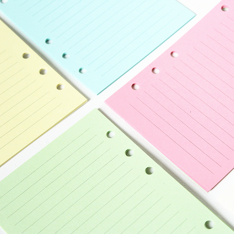 Candy rainbow color binder inner paper for the core of spiral notebook A5 A6
