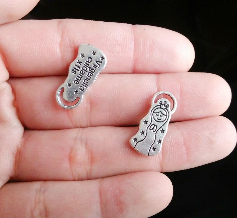 √8Pcs virgencita cuidame xfis eBay selling 25*11mm DIY Retro Silver ...