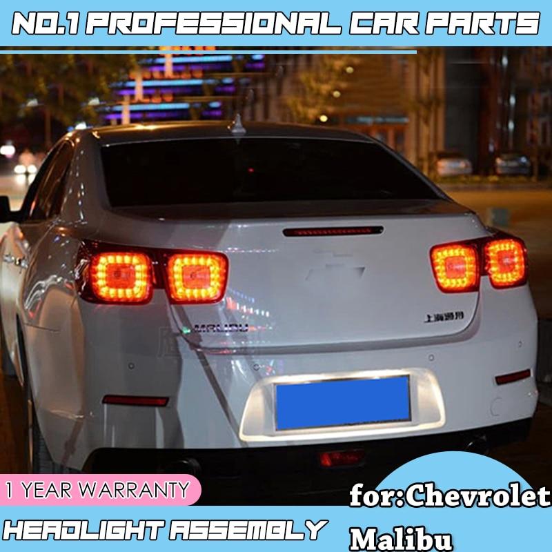 Para Chevrolet Malibu Cauda Luzes Traseiras Led luzes Traseiras Lamp LED DRL + Freio + Parque + Sinal de Parar o Carro styling