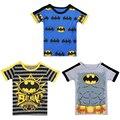 2016 Moda Verão Dos Desenhos Animados Meninos Tee Batman Meninos T Shirts de Alta Qualidade da Criança Do Bebê T-Shirts de Manga Curta Encabeça Crianças roupas