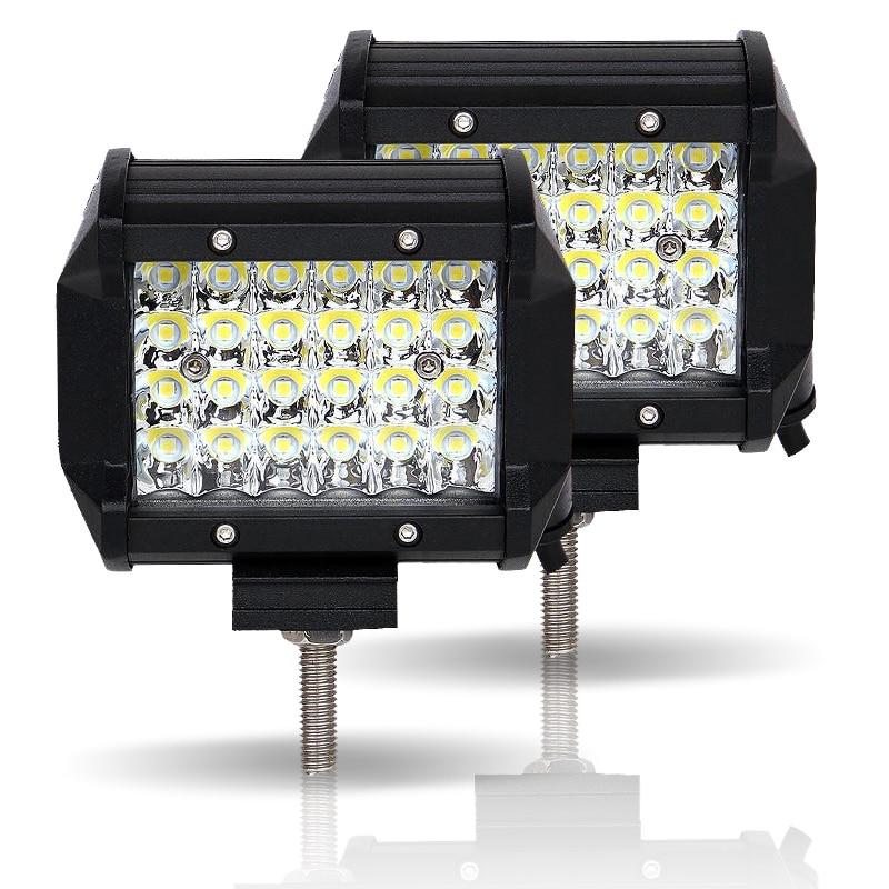 Image 2 - JSLMin Led Bar 4 inch LED Work Light Bar 72W Spot Beam 12V 24V Off Road ATV UTV UAZ UTE Motorbike Boat Worklight Driving Lights-in Light Bar/Work Light from Automobiles & Motorcycles