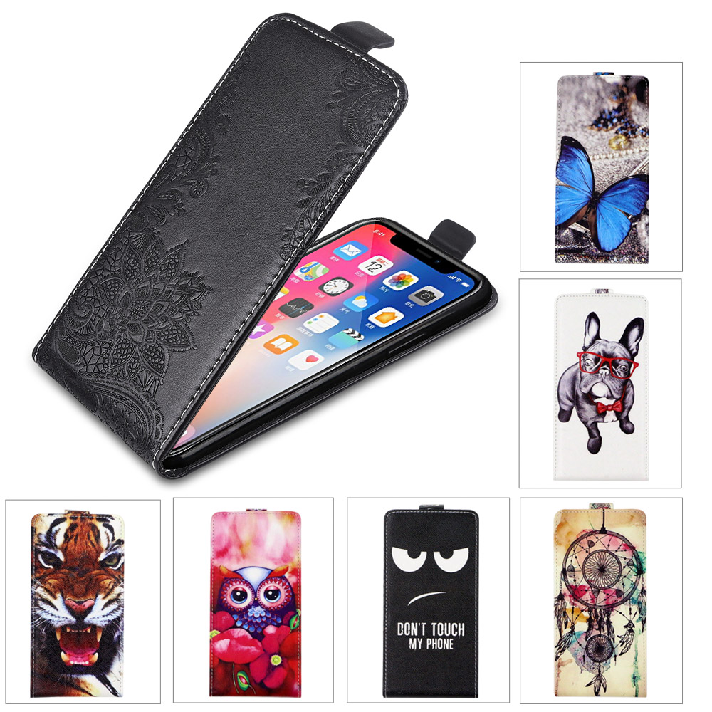 For <font><b>teXet</b></font> <font><b>TM</b></font>-<font><b>5083</b></font> Pay 5 3G Case Flip Pu Leather Cover Embossing Flower Lovely Cool Animal Patterned Vertical Case image