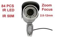 Outdoor Waterproof CCTV Surveillance 2 8 12mm Varifocal Lens Long Distance Ir 50m Bullet IP Camera