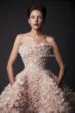 Sexy hot Light Pink and white dress wedding islamic flowers knee length beach Wedding dress 2016